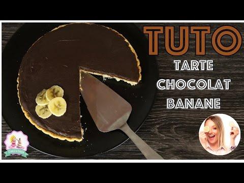 ♡•-recette-tarte-chocolat-banane- -facile-et-rapide-•♡
