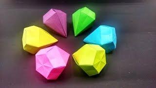 Origami Diamond Simple / Easy by Yakomoga - Yakomoga Christmas Origami tutorial