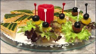 Канапе на праздничный стол, рецепты для вегетарианцев и веганов ПП ЗОЖ