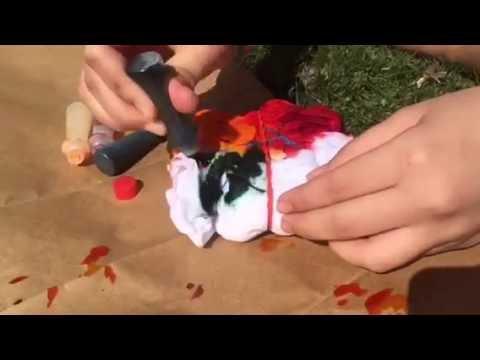 f61150b34b7c DIY food coloring tie-dye shirts - YouTube