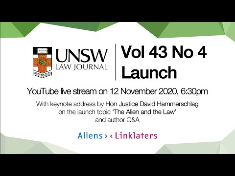 UNSW Law Journal Launch of Issue 43(4)