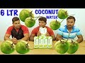BEAUTIFUL 6 LTRS OF MAST COCONUT WATER DRINKING CHALLENGE || GREEN COCONUT PACKAGED WATER