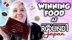 Winning FOOD at Round 1 arcade in Japan! Tasty UFO catcher wins at Round 1 Odaiba