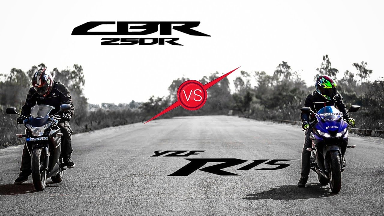 DRAG RACE : Honda CBR 250R vs R15 V3 0 (With Head Start)