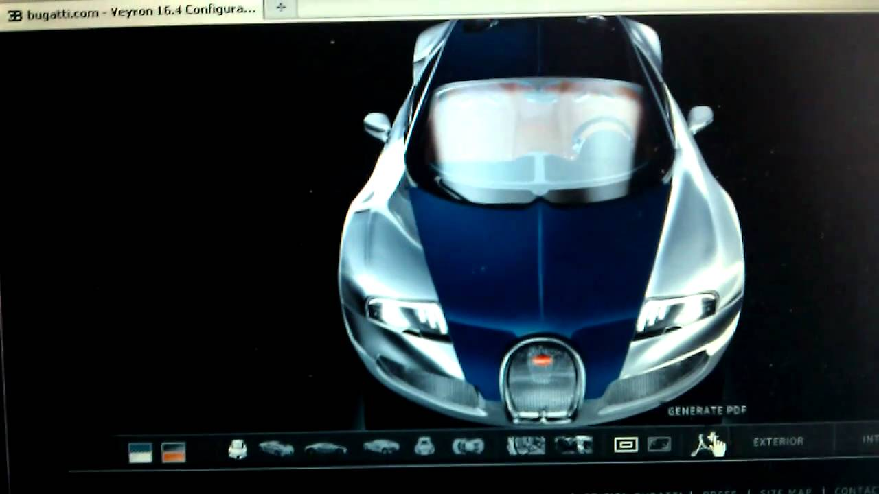 bugatti veyron configurator-rape yellow? - youtube