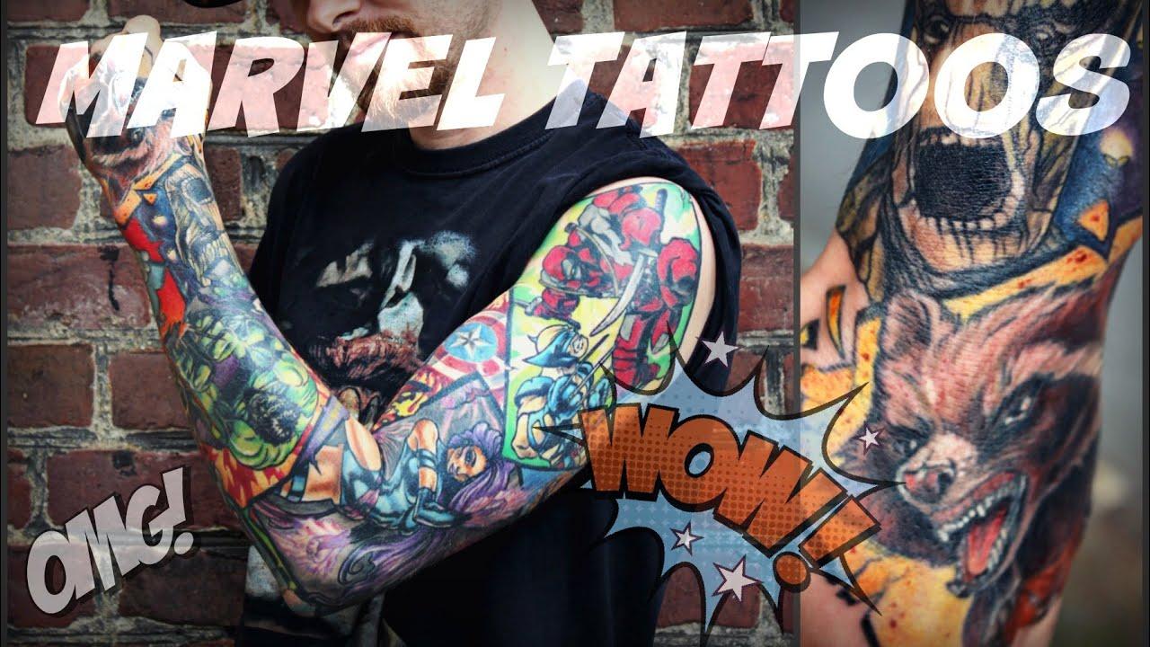 73c31c95a MARVEL TATTOOS - Full Sleeve by Cira Las Vegas - YouTube