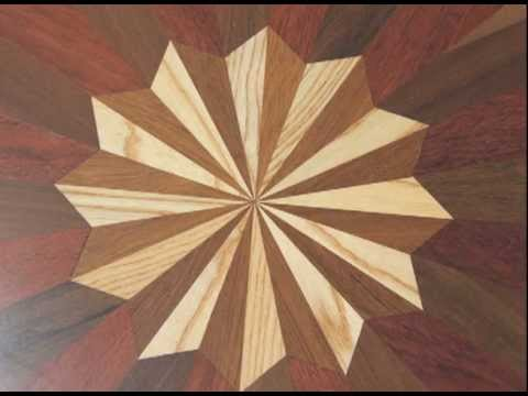 Moons Flooring Medallions And Borders In Hardwood Floors Youtube