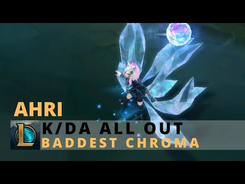 KDA All Out Ahri BADDEST Chroma - League Of Legends