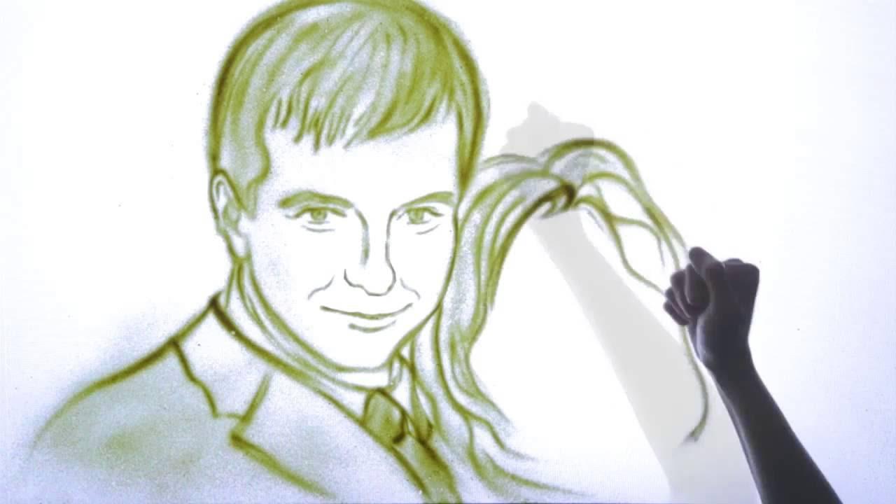 Песочное шоу на годовщину свадьбы. Iventashow.ru +7(495)507-65-66