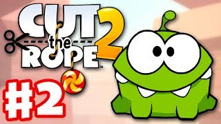 Cut the Rope 2 - Gameplay Walkthrough Part 2 - Sandy Dam! 3 Stars! (iOS, Android)