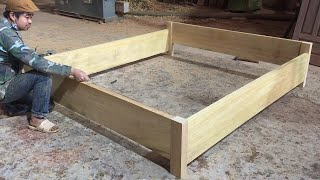 Extremely Simple Wooden Bed 2x1.8m, How To Build | Design Idea Woodworking Project Simple Furniture