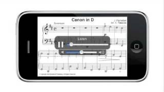 Canon in D (easy), Pachelbel - iPhone Sheet Music + MP3