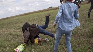 Anti-Refugee Camerawoman To Sue The Man She Tripped