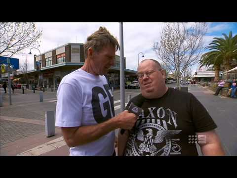 The Footy Show - Street Talk in Frankston with Sam Newman