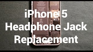 IPhone 5 How To Change Headphone Audio Jack - Replacement