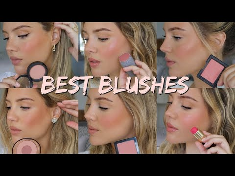 TOP 8 BLUSHES | Try On/Swatches | Elanna Pecherle 2020