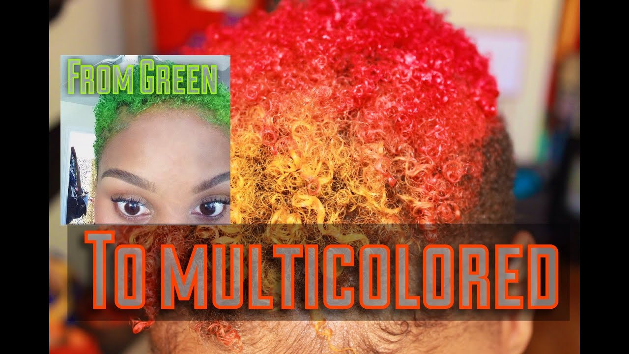 manic panic hair vlog color