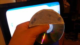 Nintendo Wii homemade laser lens cleaning disc