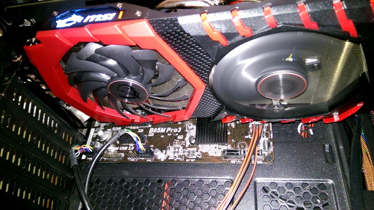 MSI GTX 1060 Gaming X Fan issue