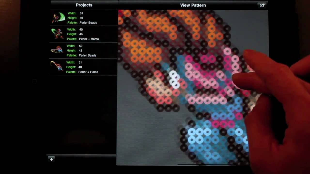 Perler Bead Sprite Pattern Generator (Hama) -- Bead It! HD v1.1 for ...