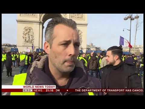 13th week of Hi-viz yellow jackets protests (France) - BBC News - 9th February 2019
