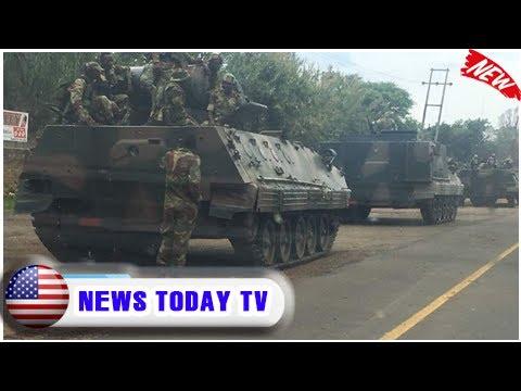 Military vehicles 'heading towards zimbabwe capital' amid political purge  NEWS TODAY TV