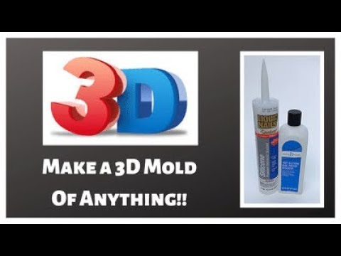 Make a 3D Silicone Mold Out of Anything! Easy DIY Mold Making - DIY Your Own Molds! mould