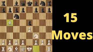 Ruy Lopez Chess Opening : Winning Position in 15 Moves