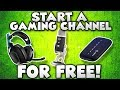 How to Start A Gaming YouTube Channel With NO MONEY!