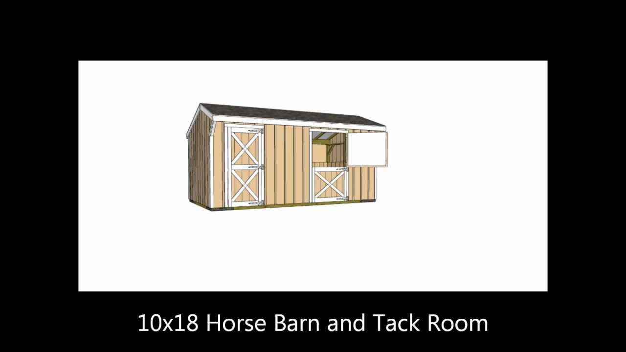 small horse barn plans youtube