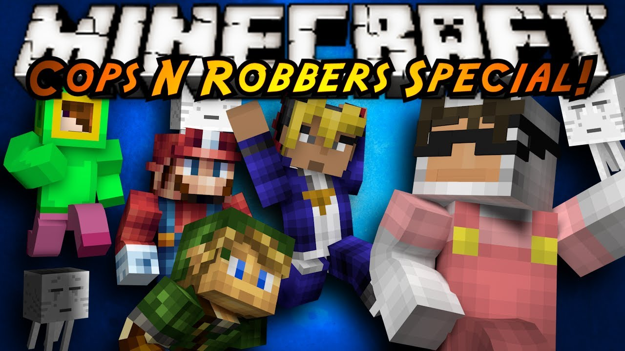 Minecraft Mini-Game : COPS N ROBBERS! (VIDEO GAME SPECIAL