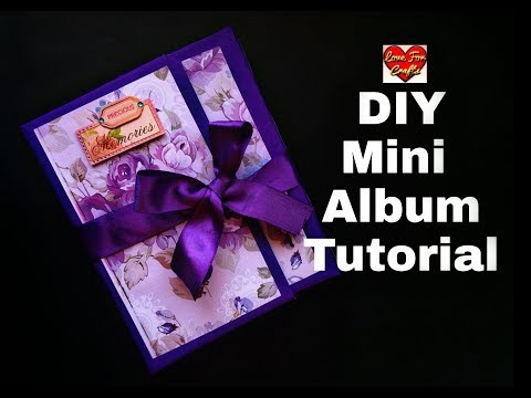 DIY - Mini Album | Mini Album Tutorial | How to Make