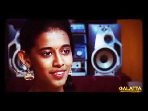 Priyanga singing the Ennavale song