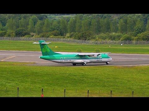 Aer Lingus ATR 72-600 Taking Off from Edinburgh Airport (Scotland)