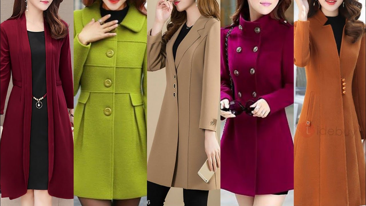 [VIDEO] - Winter long coat outfit ideas stylish women Korean style tranch coat and jacket designs 3