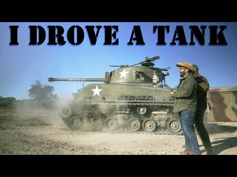 I Drove and Fired a WW2 Tank in Uvalde!