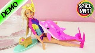 Barbie Dolphin Magic | Süßes Hündchen & Delphin | Barbie kann schnorcheln mit Farbwechsel Oberteil