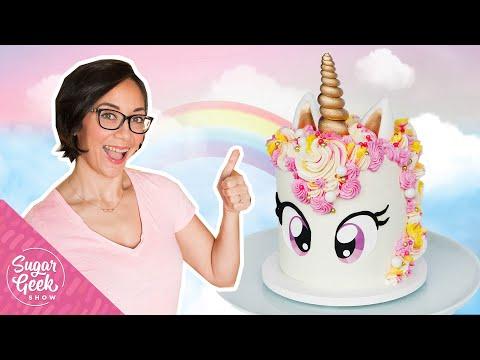 Easy Unicorn Cake Tutorial With Free Unicorn Eye Printable!