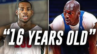 The TRUTH Behind 16-year-old LeBron James vs Michael Jordan Game!