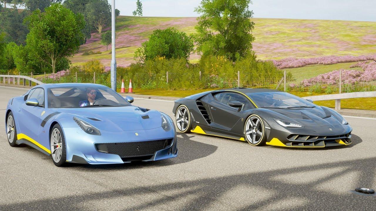 Forza Horizon 4 Drag Race Lamborghini Centenario Vs Ferrari F12 Tdf