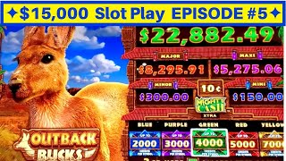 High Limit Mighty Cash Outback Bucks Slot Machine BONUS | EPISODE-5 | Live Slot Play w/NG Slot