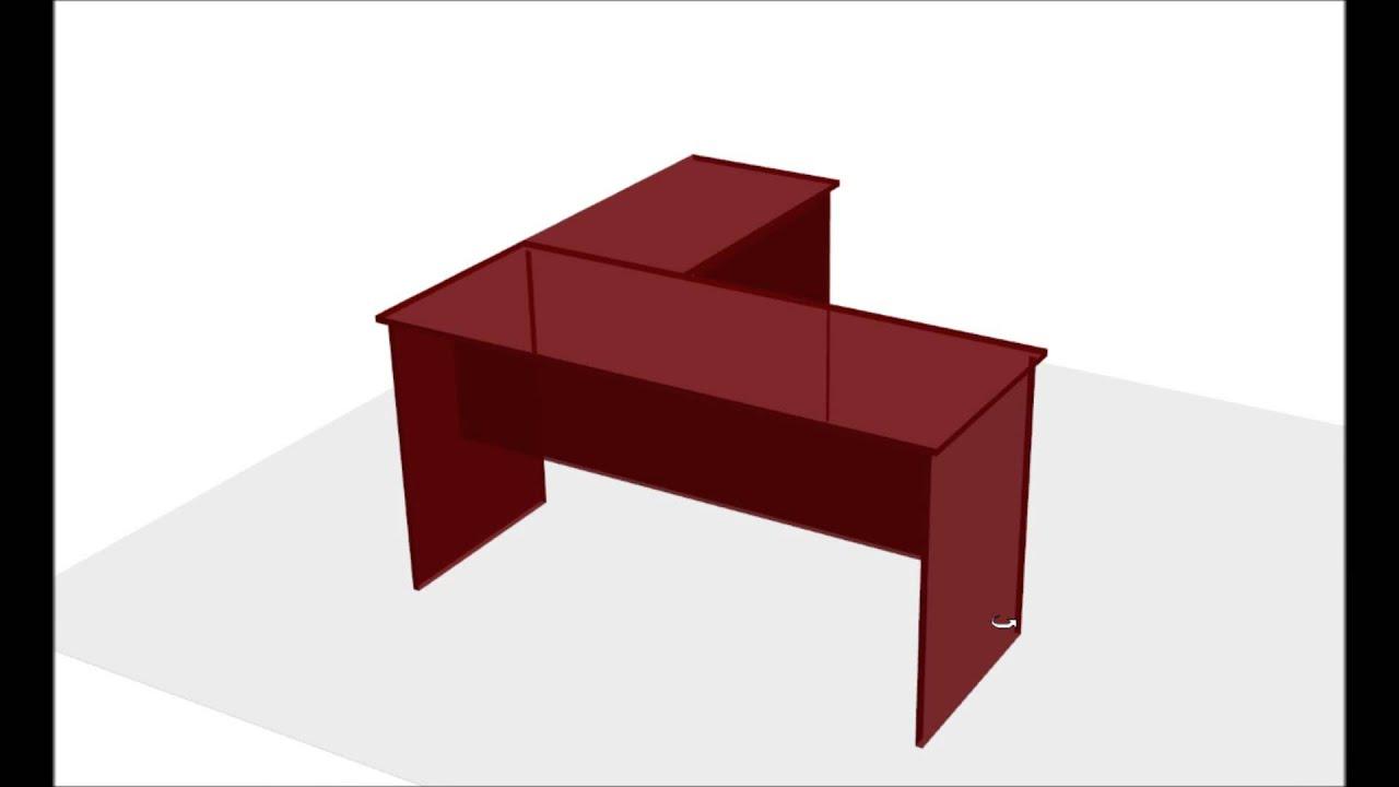 C mo construir escritorio para oficina en forma de l for Medidas de un escritorio