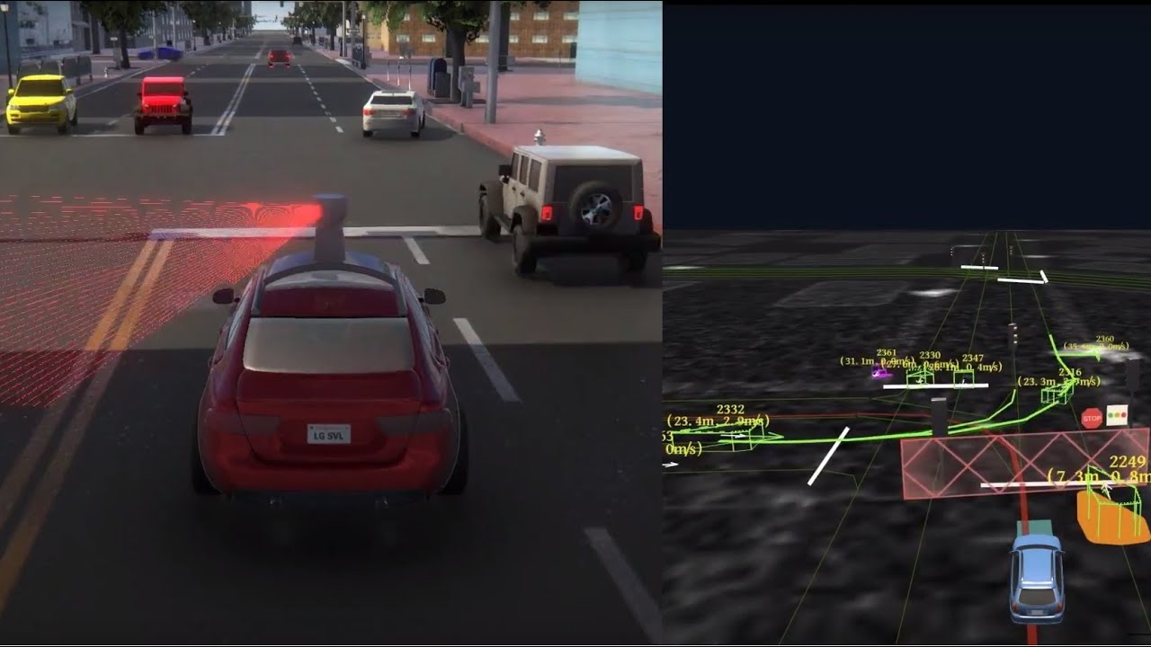 ROSCON2018: LG Autonomous Simulator driving with Baidu Apollo & Tier IV  Autoware