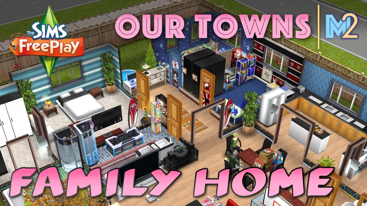Sims FreePlay - Family Home (Original House Design) - YouTube