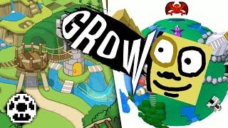 Die Buben spielen für (über) 1 Stunde Grow-Spiele