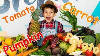 Овощи и Фрукты для детей! Развивающие мультики для самых маленьких! Learning fruits in English 0+