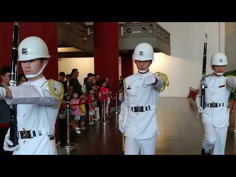 20180623國父紀念館(Dr. Sun Yat-Sen Memorial Hall)海軍儀隊交接及降旗