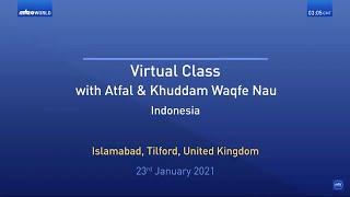 Virtual Mulaqat | Indonesia | Waqfe Nau Boys | Translation | Malayalam