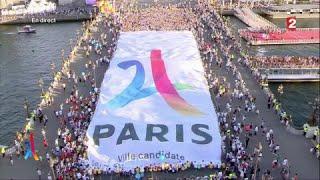 Paris 2024 est prêt, le message de cette immense banderole