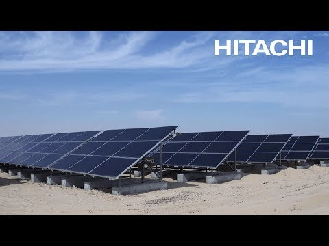 Solution: Hitachi solar-powered desalination plants, Abu Dha
